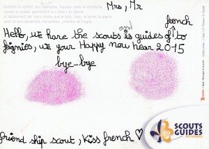 Feignies Scouts postcard Jan15 back